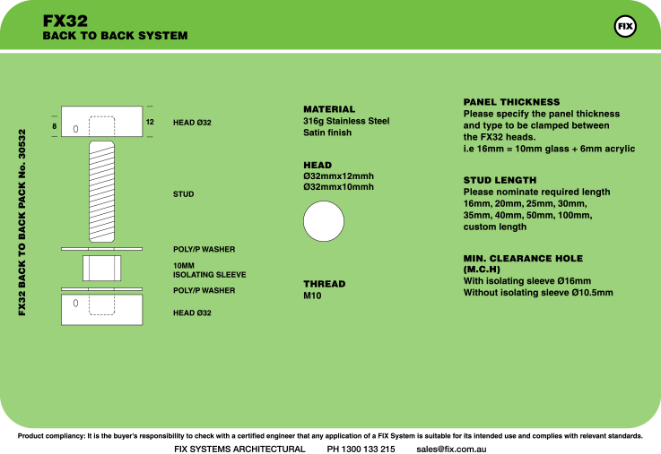 FX32, Back-to-back System Specifications